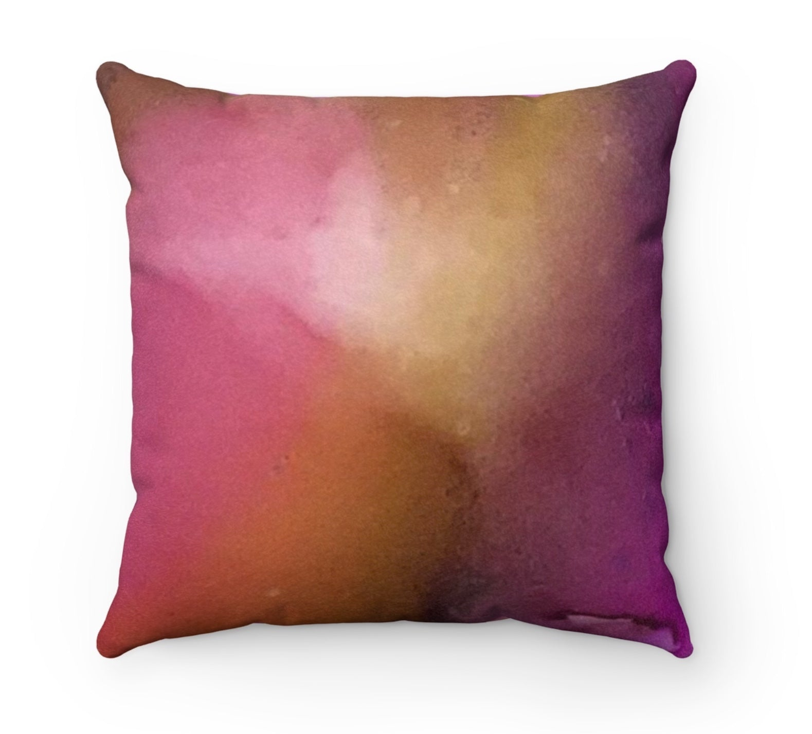 Magenta Play Faux Suede Square Pillow