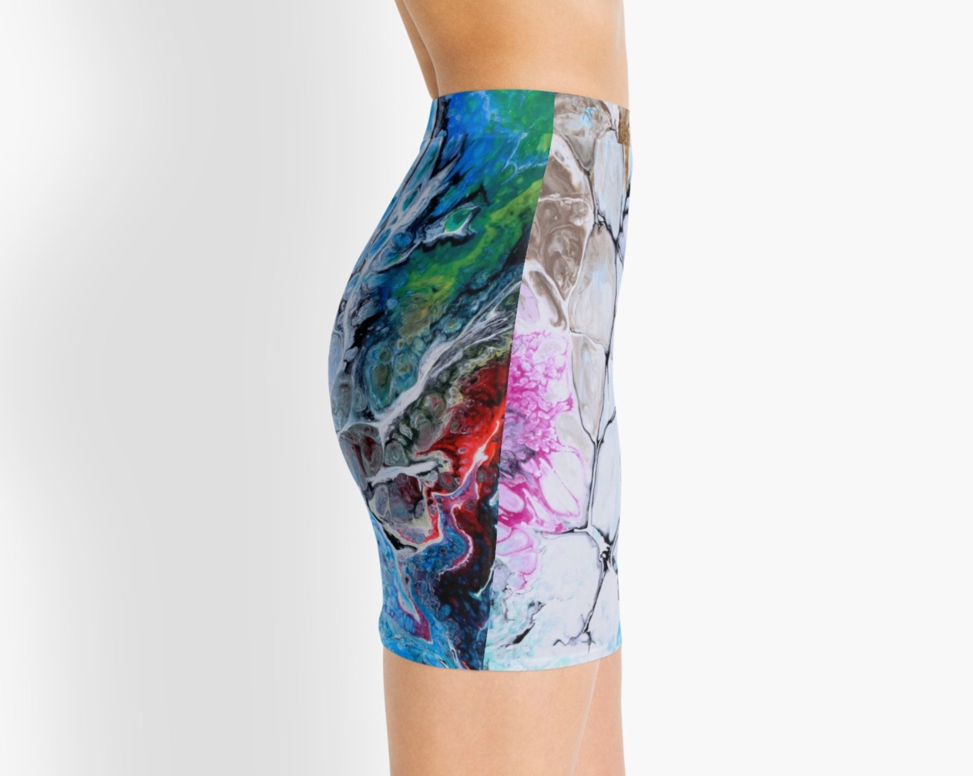 Cracks into Color Mini Skirt