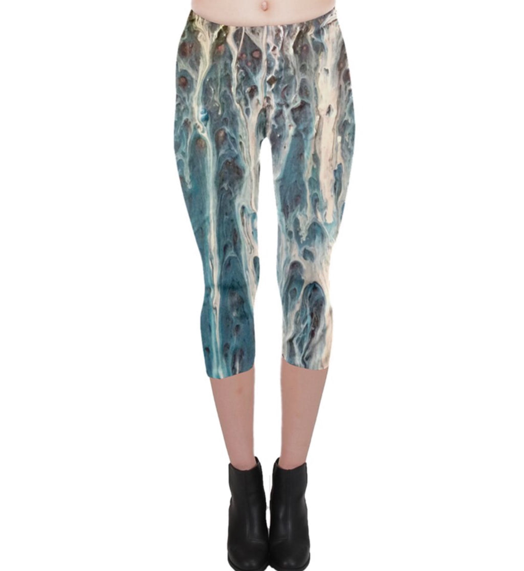 The Blues Capri Leggings