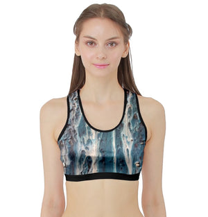 The Blues Sports Bra with Border