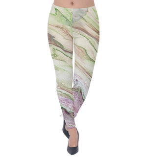 The Greening of Jupiter Velvet Leggings