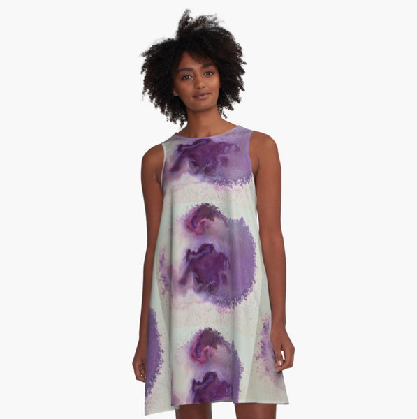Why Be Violet? A-Line Dress