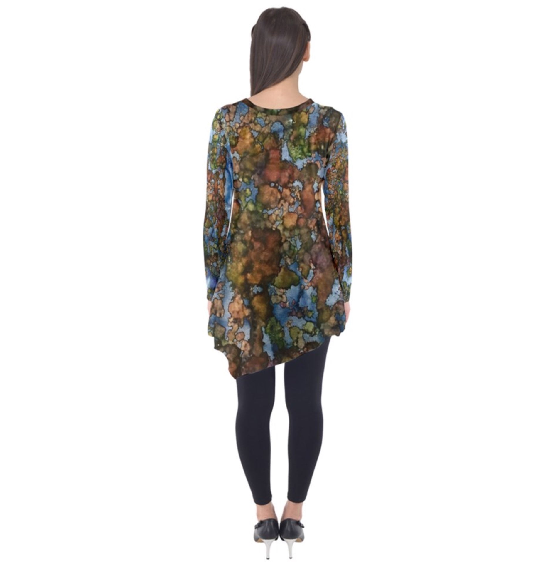 Earth Cut Into Cubes Long Sleeve Tunic