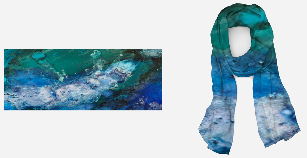 Remembering the Sea Silk Twill Scarf