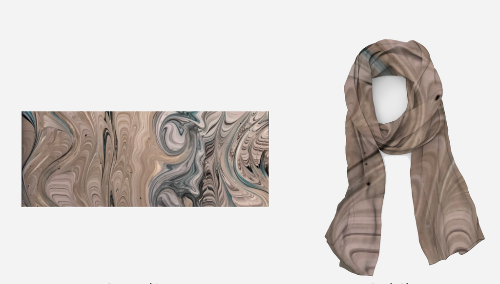 Waves of Sand Long Cotton/Silk Scarf