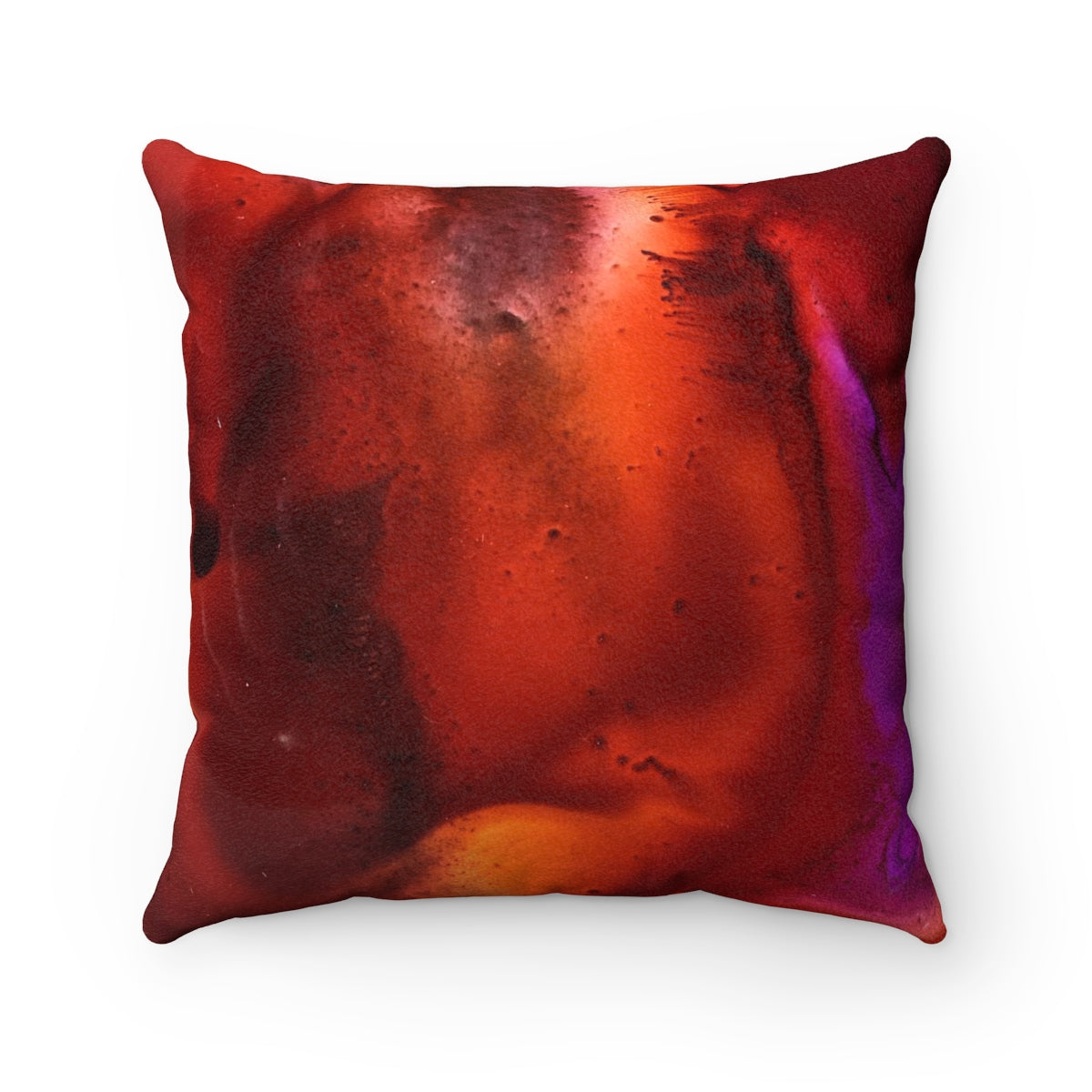 Yay Fall! Faux Suede Square Pillow