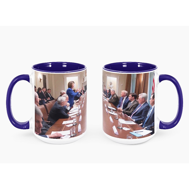 Pelosi Owns Trump Coffee Mug