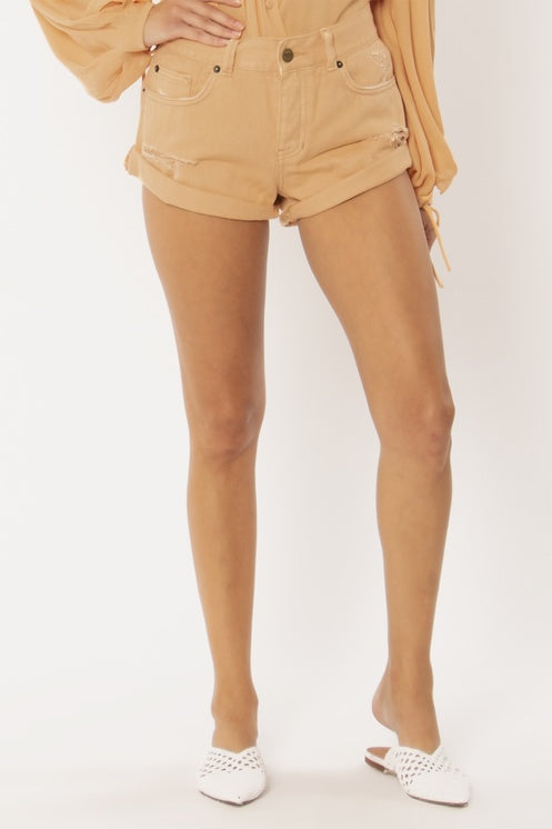 Crossroads Denim Shorts - Sahara Sand