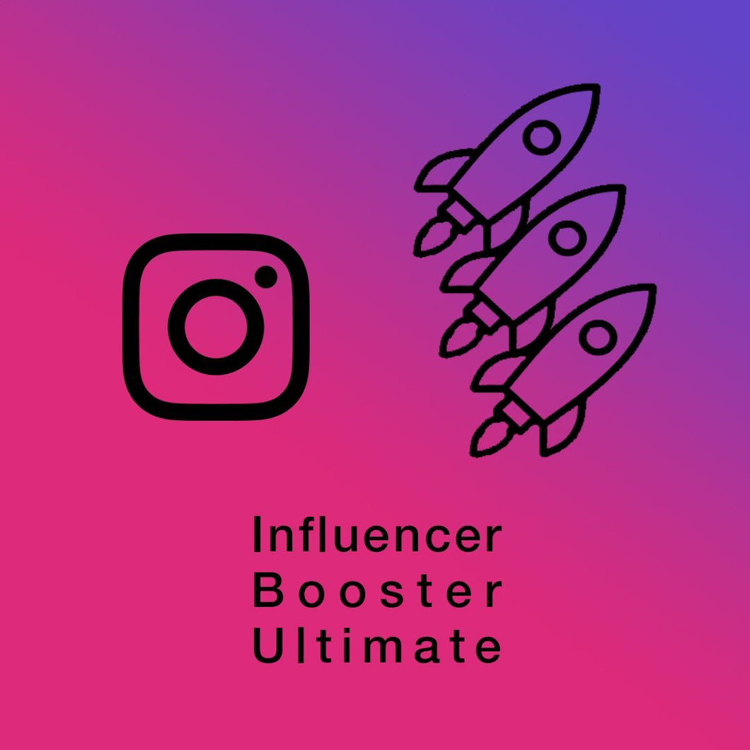 Instagram Influencer Booster Ultimate (3 Post Per Day / 90 Per Month) - SOCIAL GROWTH ENGINE