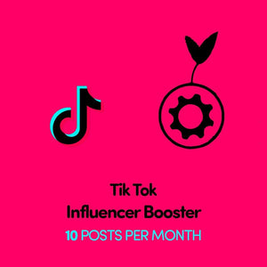 TikTok Influencer Booster | 10 Posts Per Month - SOCIAL GROWTH ENGINE