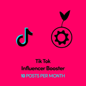 TikTok Influencer Booster x 10 Posts Per Month | Get Seen More | Get Paid More - SOCIAL GROWTH ENGINE