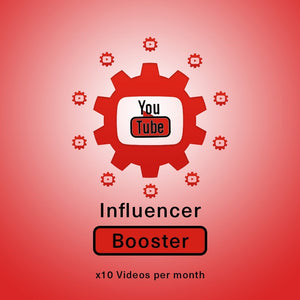 YouTube Influencer Booster | 10 videos per month - SOCIAL GROWTH ENGINE