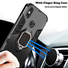 Load image into Gallery viewer, KISSCASE 4 In 1 Shockproof Case For iPhone 6 6S 7 8 Plus XS Case For iPhone X 5 5S Se XS Xs Max XR Magnetic Phone Finger Holders