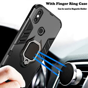 KISSCASE 4 In 1 Shockproof Case For iPhone 6 6S 7 8 Plus XS Case For iPhone X 5 5S Se XS Xs Max XR Magnetic Phone Finger Holders