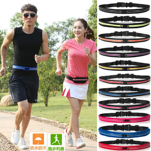 Portable Waist Bag With 3M reflective strip Waterproof Bag Pouch Pocket Coin Purse Hip Money Belt travel Mobile Phone Bag