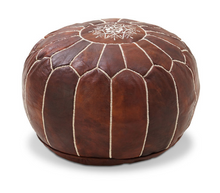 Load image into Gallery viewer, Moroccan leather pouf