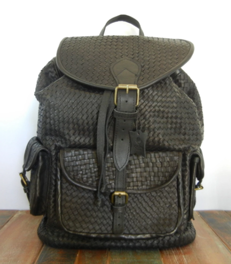 Kella- Woven leather backpack