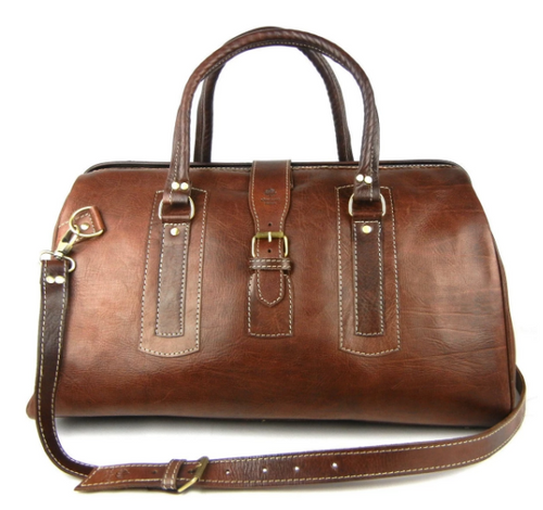 Afra- Leather weekender bag