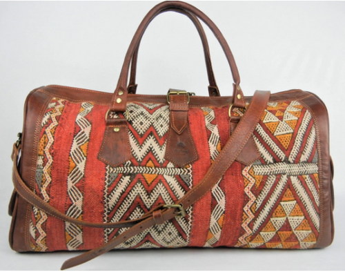 Elmundo- Leather kilim travel bag