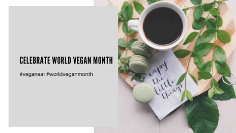 world vegan month with coffeeza black coffee