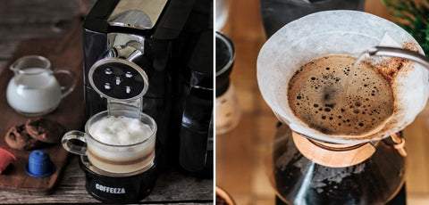 Difference between filter coffee and espresso