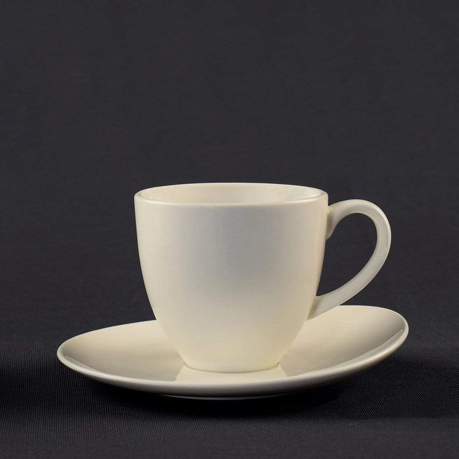 Coffeeza Cappuccino Cup & Saucer Set of 4 (Porcelain) - 230 Ml nespresso compatible SCA-001