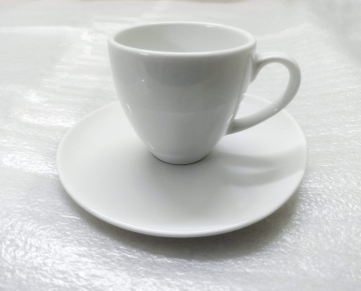 Coffeeza Espresso Cup & Round Saucer Set of 4 (Porcelain) - 90 Ml nespresso compatible SES-003