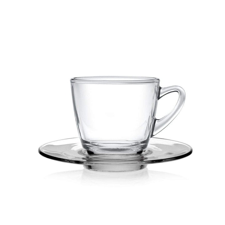 Coffeeza Espresso Cup & Saucer Set of 4 (Glass) - 70 Ml nespresso compatible SES-002