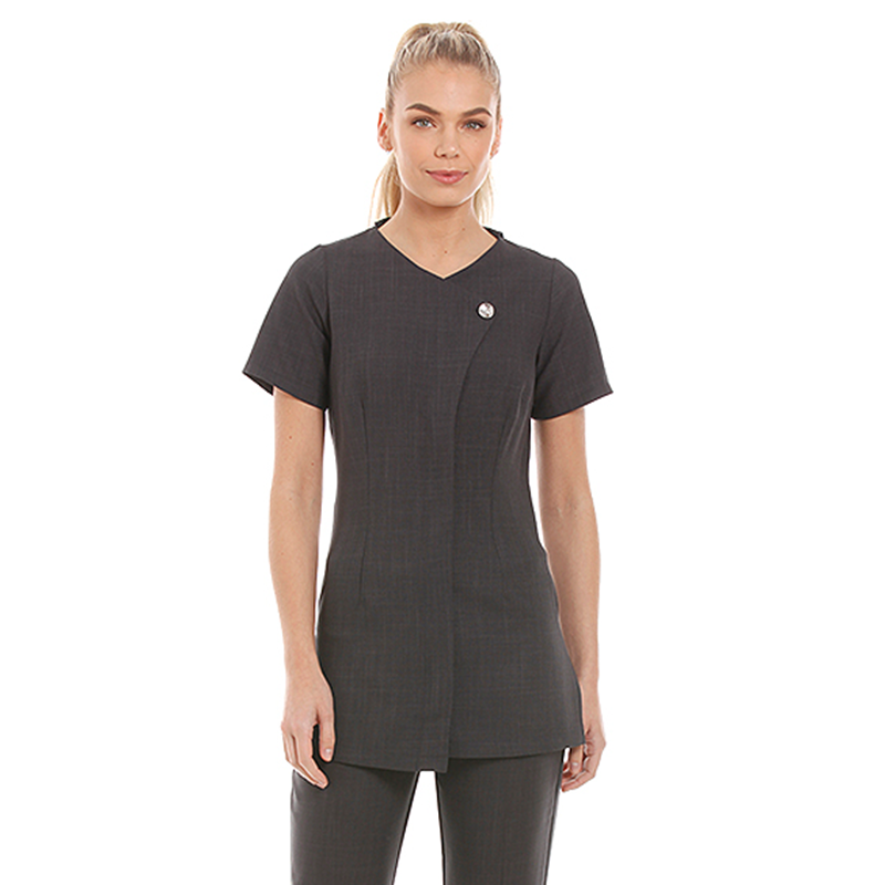 Chelsea Tunic Dark Grey with Diamante Button