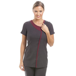Havana Tunic Dark Grey/ Burgundy