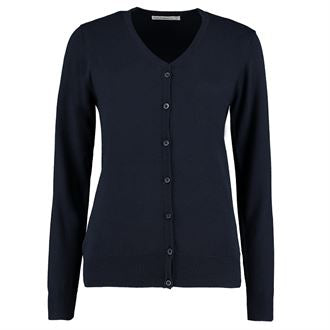 KK354 NAVY V NECK CARDIGAN