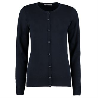 KK355 Round Neck Cardigan Navy