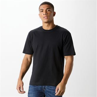 UC301 Short Sleeve T Shirt Black - Unisex Fit - Forth Valley