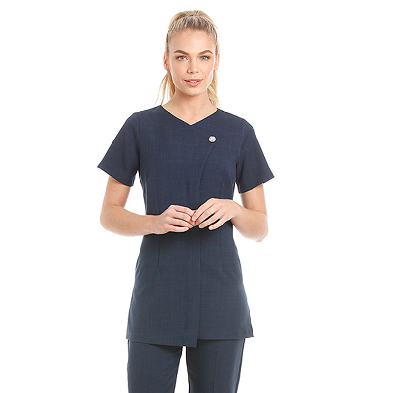 Chelsea Tunic Navy with Diamante Button - Bedford College
