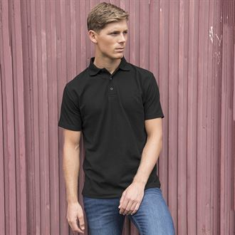 UCB KK403 GENTS/UNISEX BLACK POLO WITH HAIR & MAKEUP SPECIALIST BRANDING