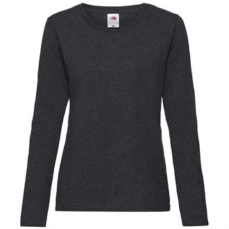 SS049 LADIES FIT LONG SLEEVE T SHIRT in black - Shooters Hill