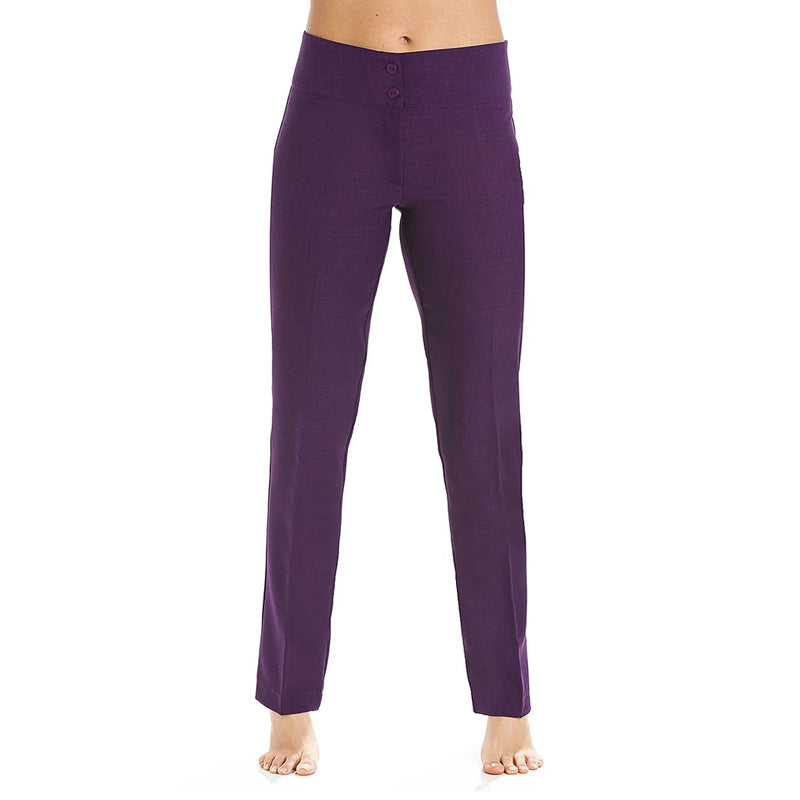 Straight Leg Trousers Aubergine - Manchester College