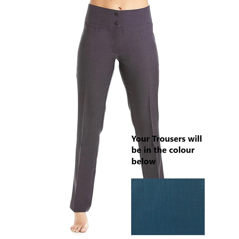 Straight Leg Trousers Teal