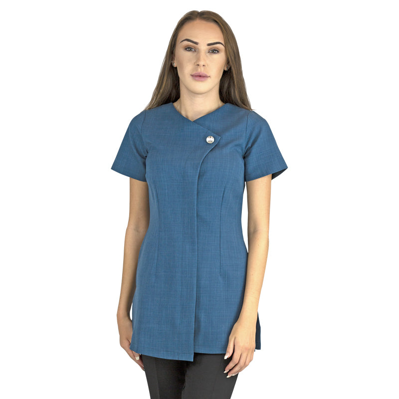 Chelsea Tunic Teal with Diamante Button - Colchester College