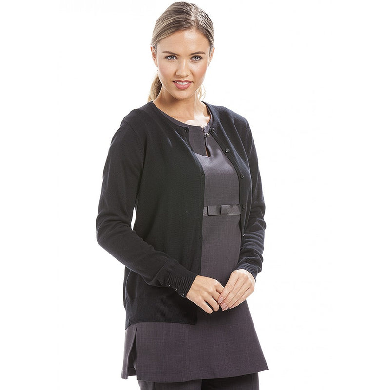 KK354 - V Neck Cardigan Black