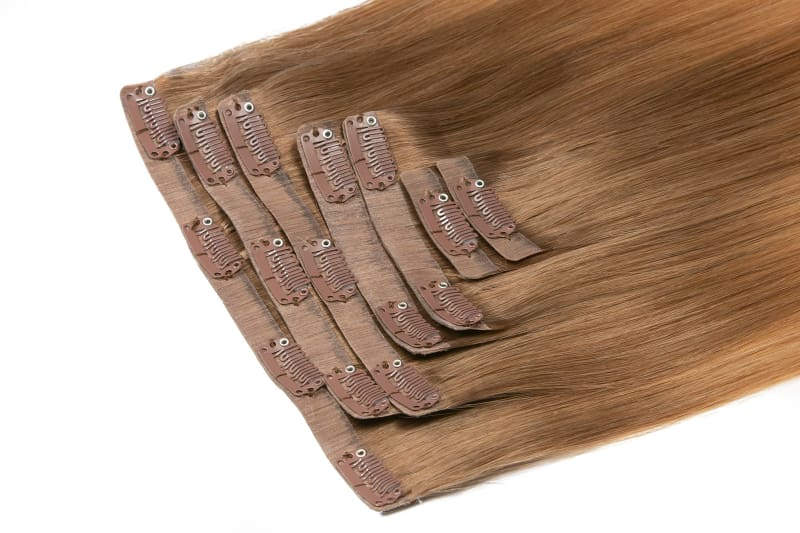 Chloe Cool Blonde Ombre Clip-In Extensions - Signature