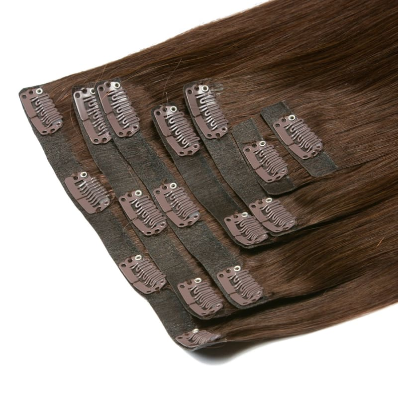 Giselle Warm Brunette Ombre Clip-In Extensions - Signature