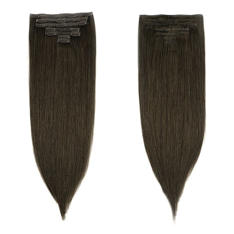 Medium Brown Clip-In Extensions - Signature