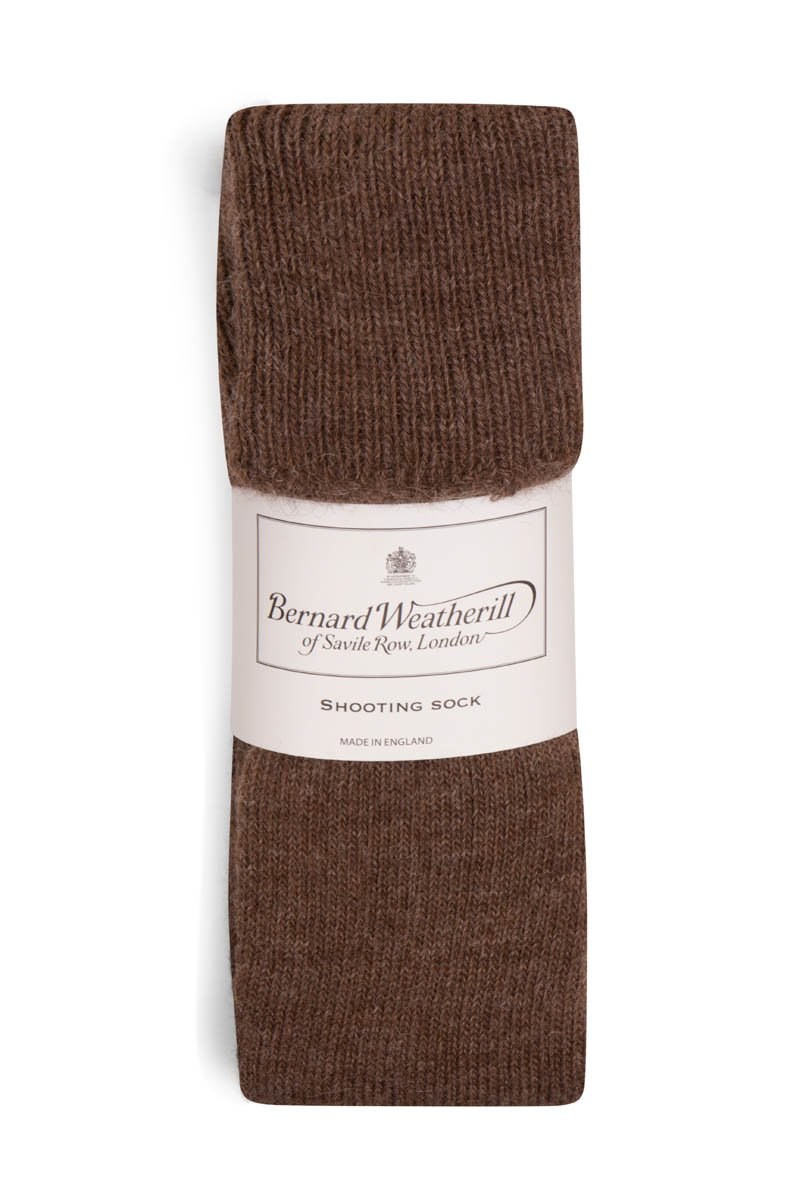 Bernard Weatherill Alpaca Shooting Sock Chocolate Savile Row Gentlemens Outfitters