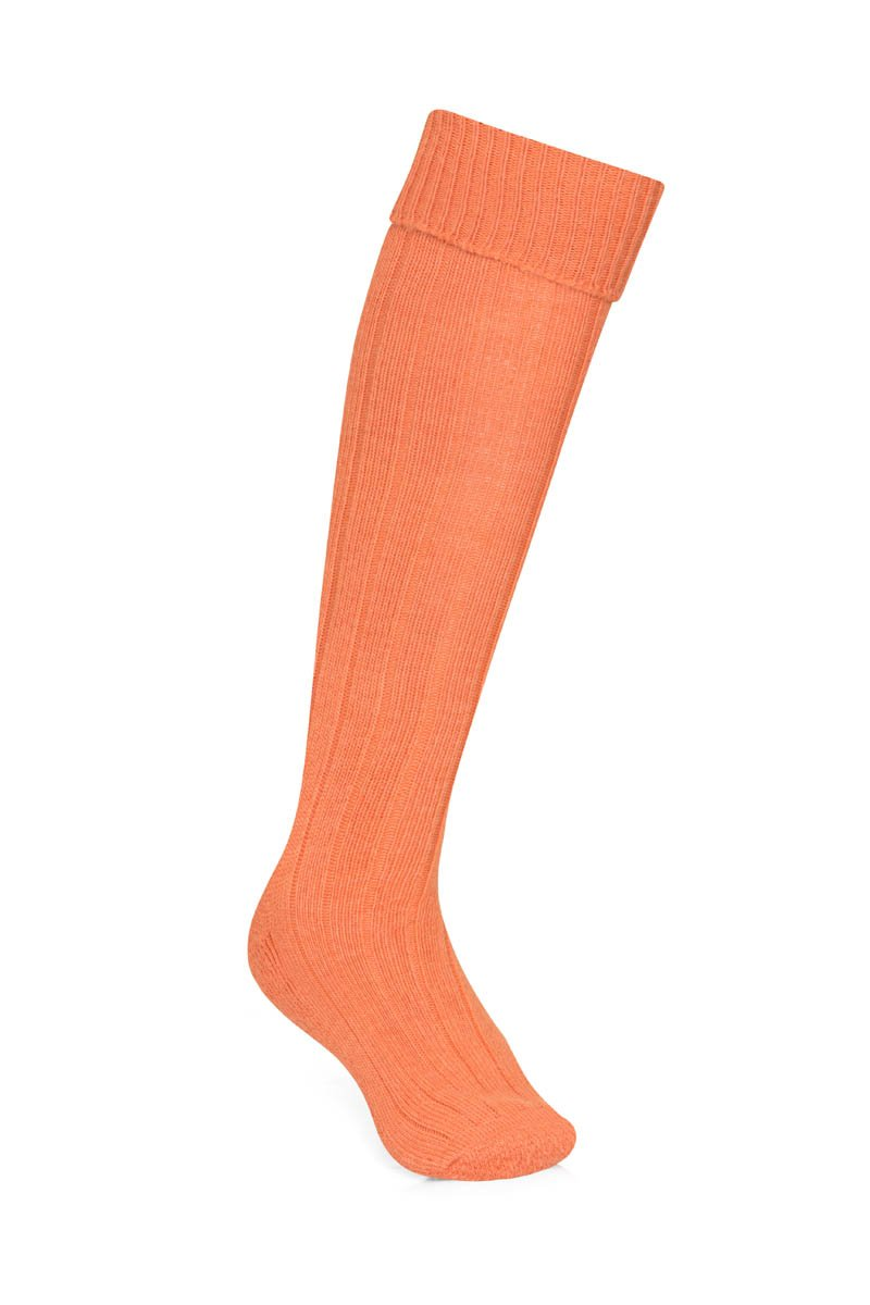Bernard Weatherill Alpaca Shooting Sock Flaming Orange Savile Row Gentlemens Outfitters
