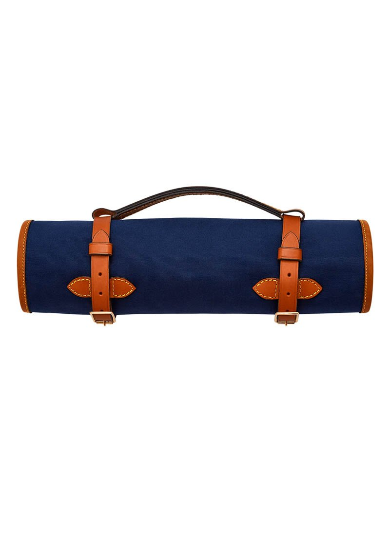 Bernard Weatherill Canvas Cleaning Roll Navy Mid Tan Savile Row Gentlemens Outfitters