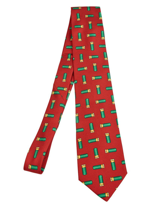 Bernard Weatherill Cartridge Tie Red Green Savile Row Gentlemens Outfitters