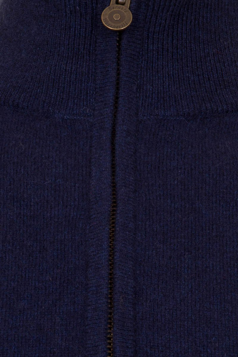 Bernard Weatherill Cashmere 1/4 Zip Gilet Bright Navy Savile Row Gentlemens Outfitters