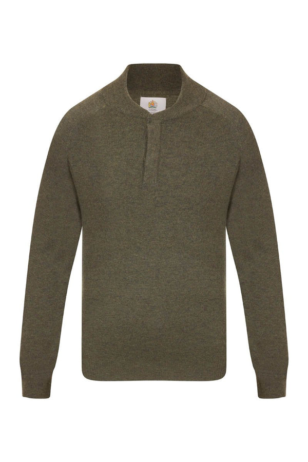 Bernard Weatherill Cashmere Button Neck Pullover Thyme Savile Row Gentlemens Outfitters
