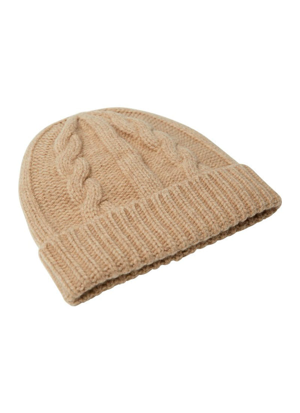 Bernard Weatherill Cashmere Cable Knit Beanie Crofter Savile Row Gentlemens Outfitters